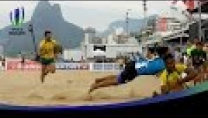reportage rugby Beach rugby rocks Brazil ahead of Rio 2016