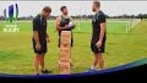 video rugby Who will win the GIANT Jenga Challenge with London Irish?