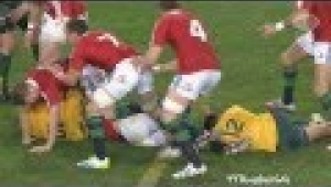 video rugby Wallabies vs British & Irish Lions 1st Test 2013